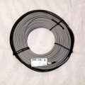 "7mm or 1/4 inch diameter twin conductor heating cable.  12 W/F max 50 W/SF.  Covers 9-13 SF""in concrete or under asphalt"